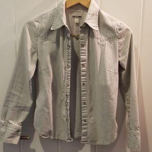 Vintage Gap Western Cut Demin Shirt, Pearl Button